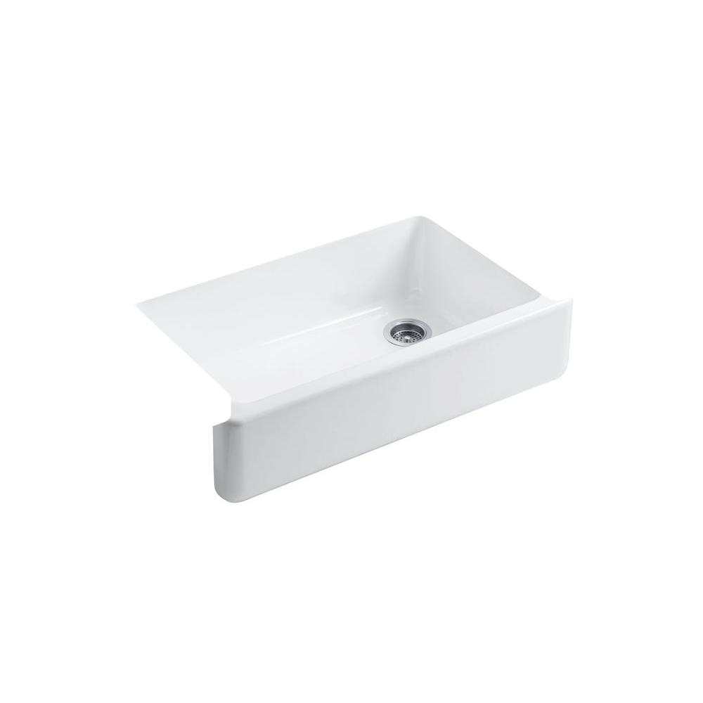 KOHLER Whitehaven Farmhouse Apron-Front Cast Iron 36 in. Double ...