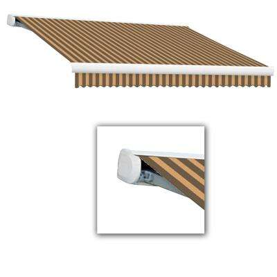 8 ft. Key West Full Cassette Left Motorized Retractable Awning (84 in. Projection) Brown/Tan