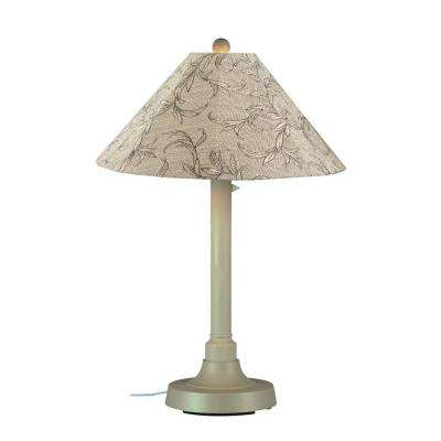 San Juan 34 in. Outdoor Bisque Table Lamp with Bessemer Shade