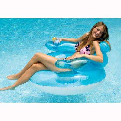 45 in. Blue Bubble Chair Pool Float