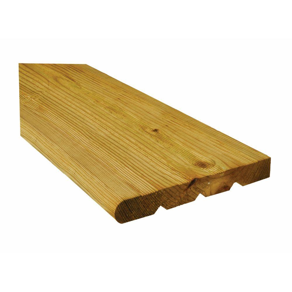 WeatherShield 2 in. x 12 in. x 4 ft. Pressure-Treated Wood Step ...