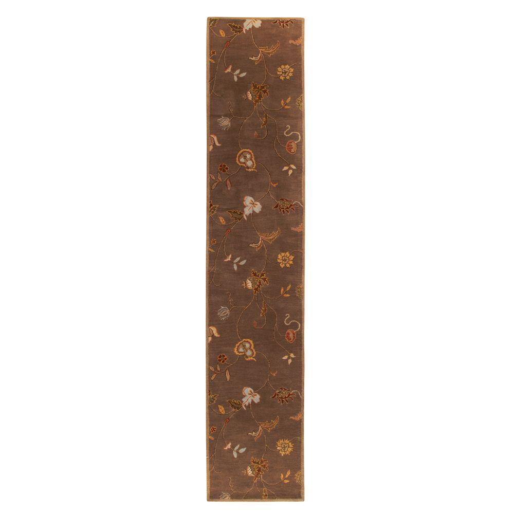 Lenore Gray/Brown 3 ft. x 14 ft. Runner Rug