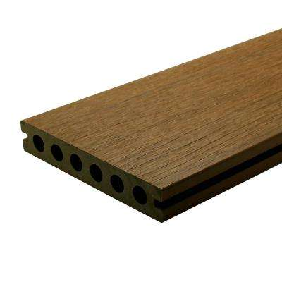 Ultrashield Naturale Voyager Series 1 In X 6 In X 16 Ft Peruvian Teak Hollow Composite Decking Board 49 Pack