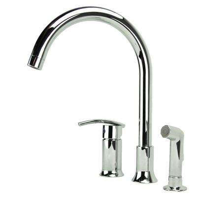 Vincennes Single-Handle Standard Kitchen Faucet with Side Sprayer in Chrome