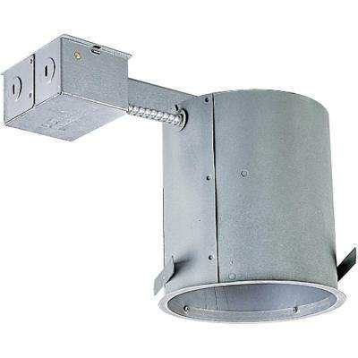 6 in. Metallic Remodel Recessed Housing, IC and Non-IC