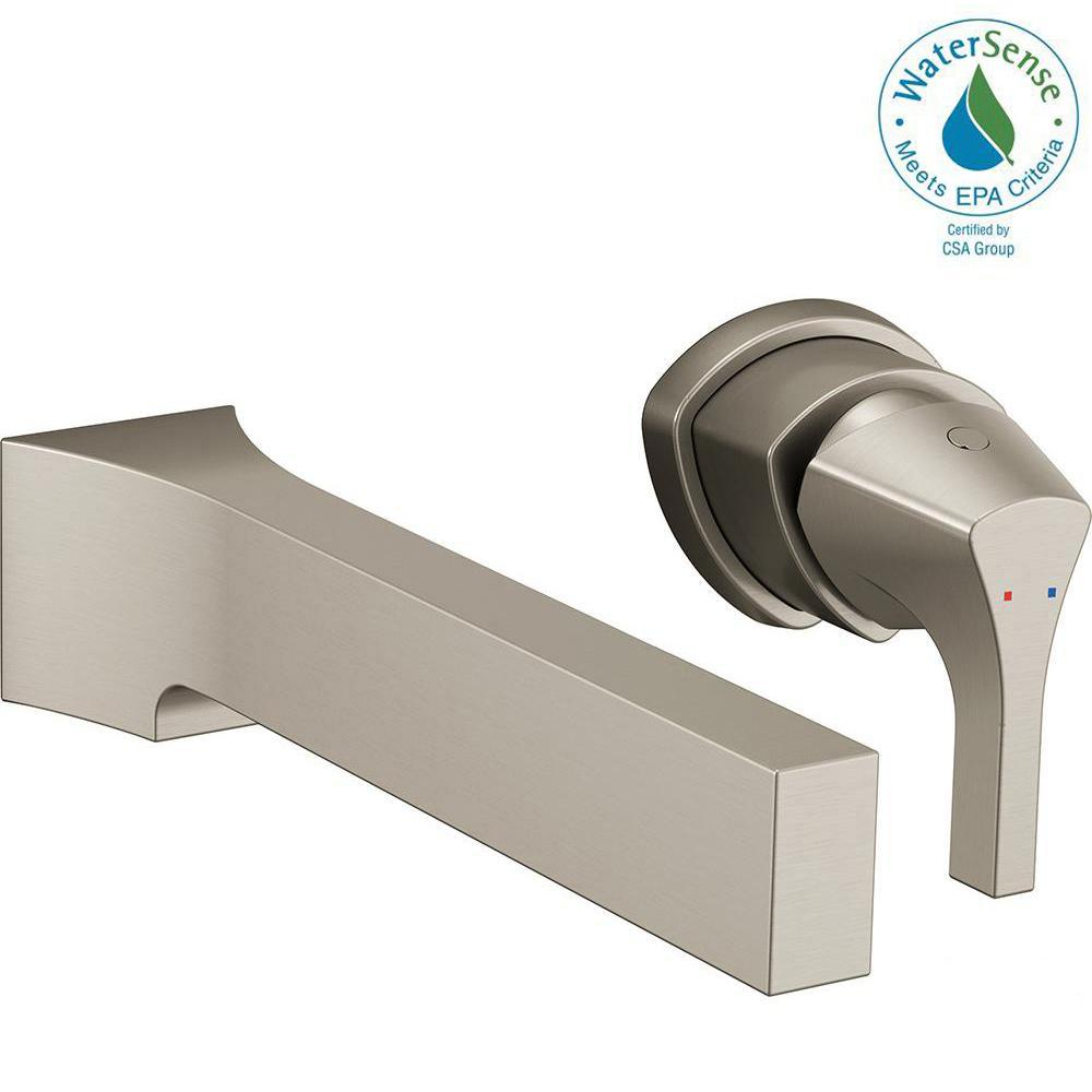 Zura Single-Handle Wall Mount Bathroom Faucet Trim Kit in Stainless (Valve