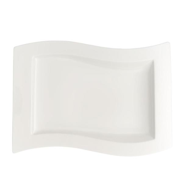 New Wave White Porcelain Gourmet Plate