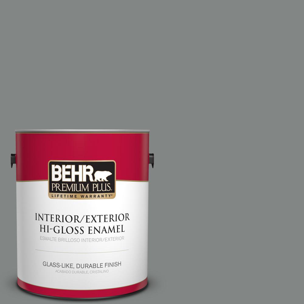 1 gal. #PPU25-17 Euro Gray Hi-Gloss Enamel Interior/Exterior Paint