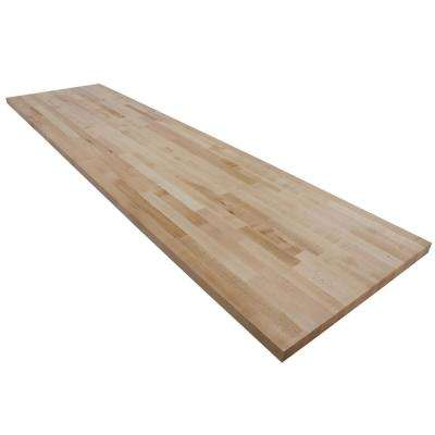 8 ft. L x 2 ft. 1 in. D x 1.5 in. T Butcher Block Countertop in Finished Maple