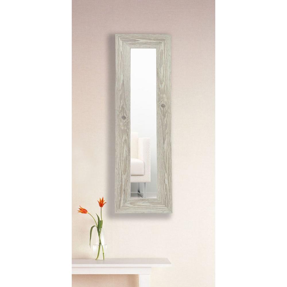 White Washed Antique Vanity Mirror Single Panel - 11.5 In. X 29.5 In. White Washed Antique Vanity Mirror Single Panel