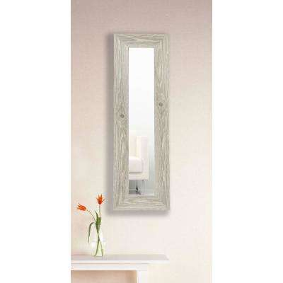 9.5 in. x 25.5 in. White Washed Antique Vanity Mirror Single Panel