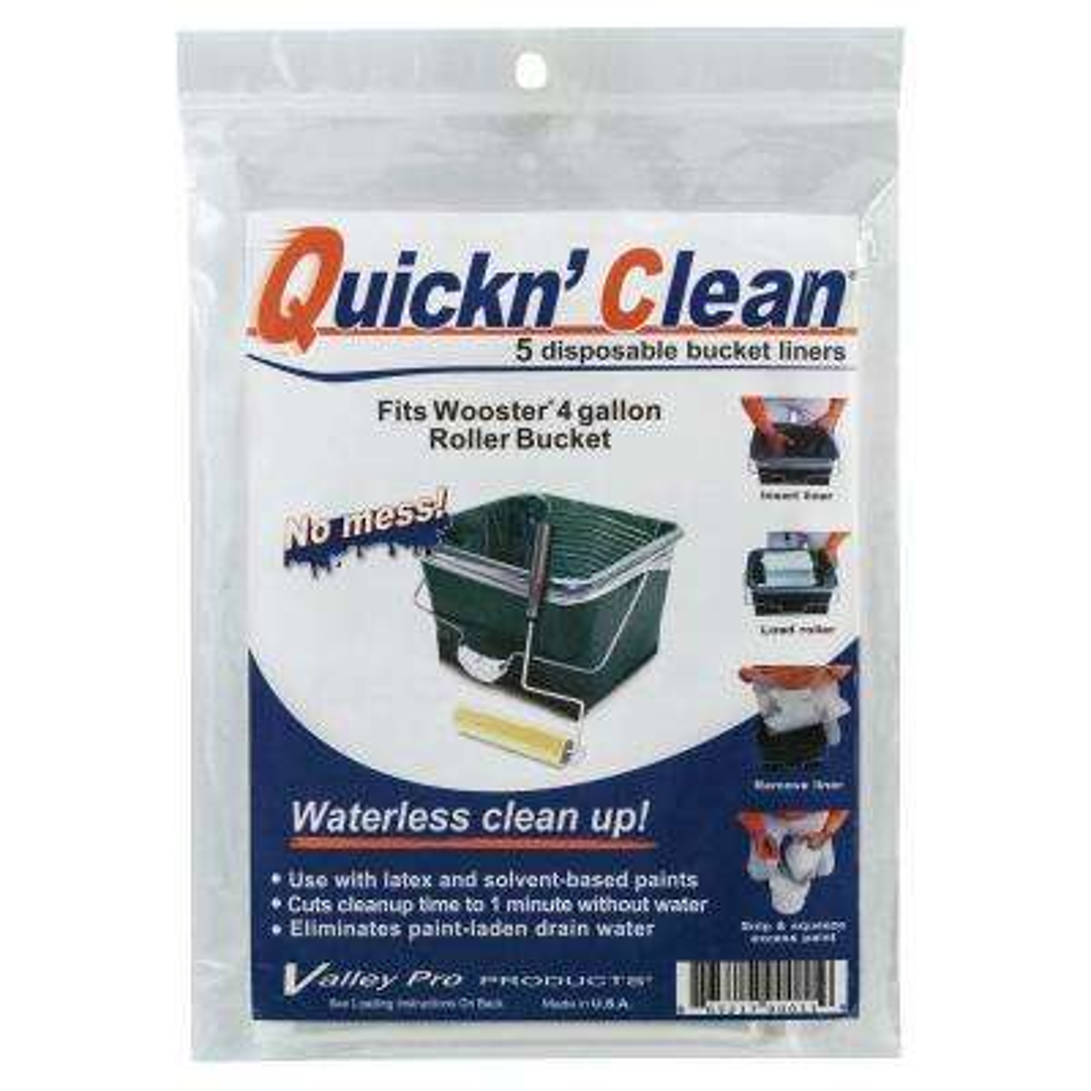 Quickn' Clean 4 Gal. Bucket Liner 5-Pack