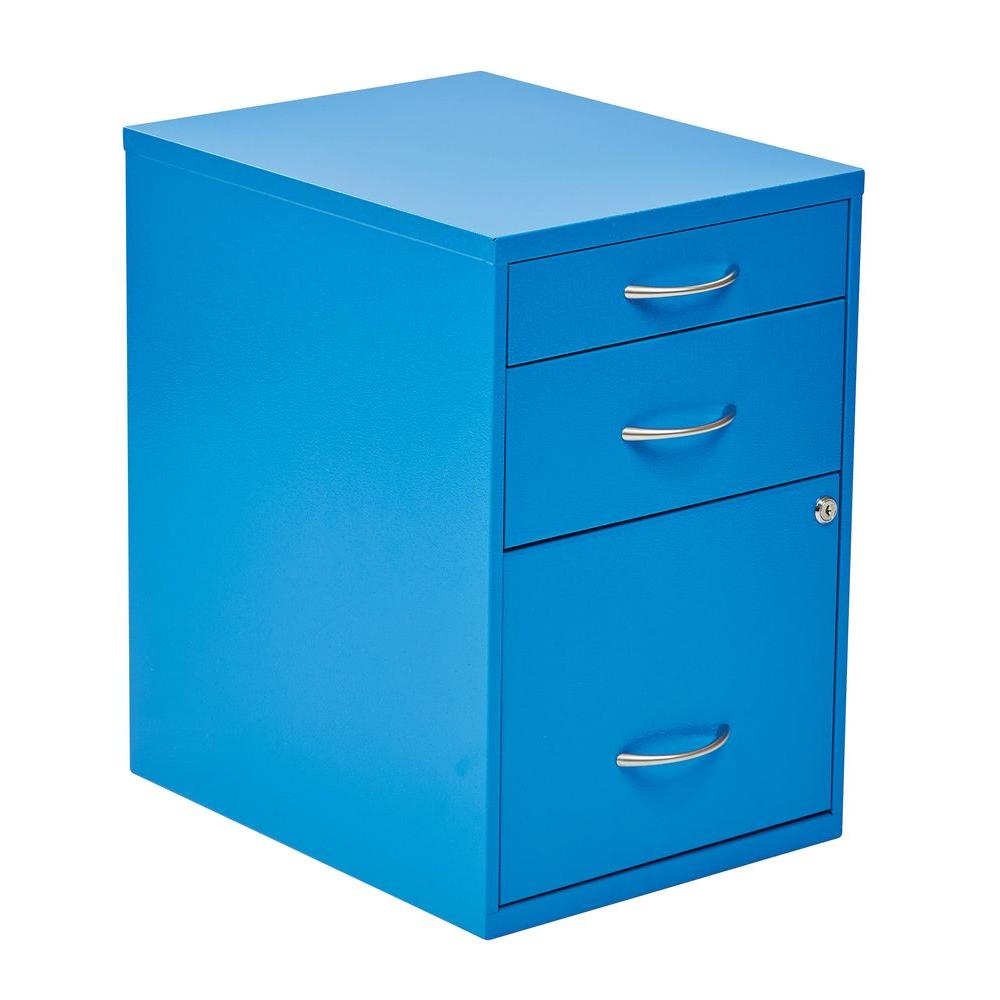OSPdesigns Blue File Cabinet-HPBF18 - The Home Depot