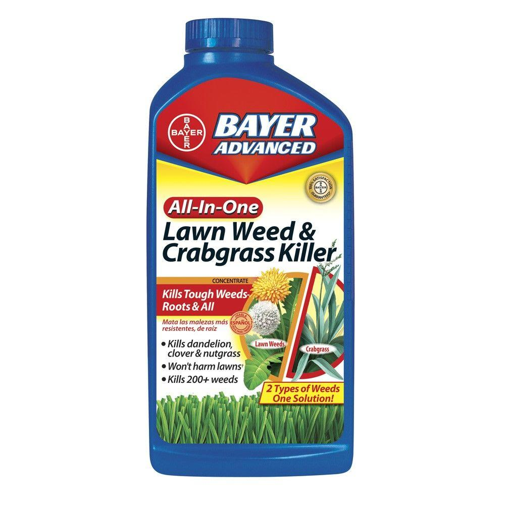 Bayer Advanced 32 oz. Concentrate All-in-1 Lawn Weed and Crabgrass Killer