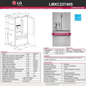 stainless steel lg electronics french door refrigerators lmxc23746s 77_300 lg electronics 22 7 cu ft french door refrigerator in stainless  at crackthecode.co