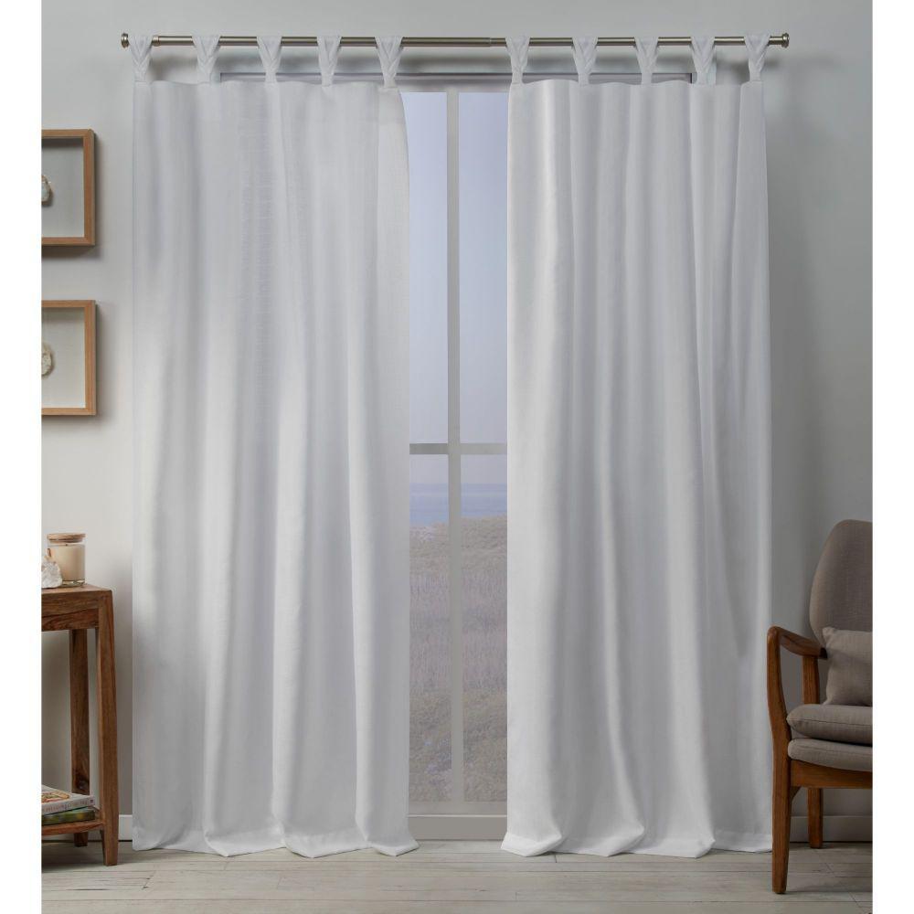 Loha Winter Light Filtering Tab Top Curtain Panel 54 in. W x 108 in. L (2 Panels)