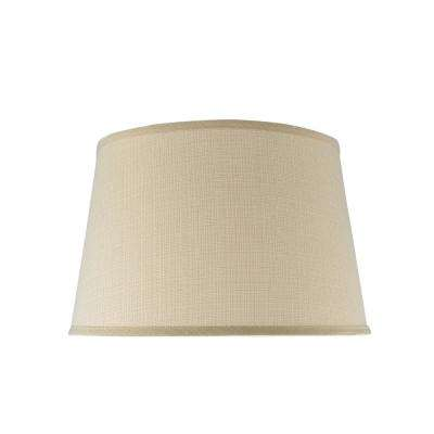 17 in. x 11 in. Butter Creme Hardback Empire Lamp Shade