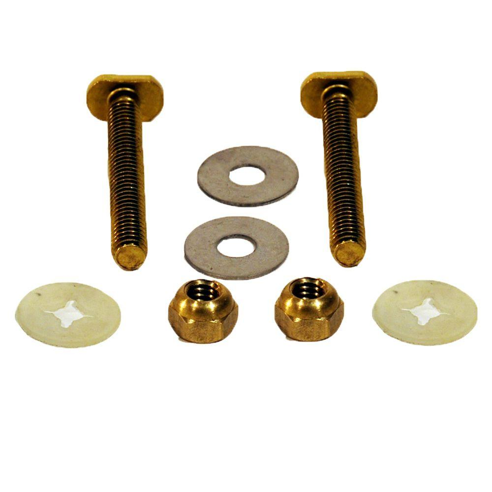 Everbilt 5/16 in. x 2-1/4 in. Brass Toilet Bolts with Nuts