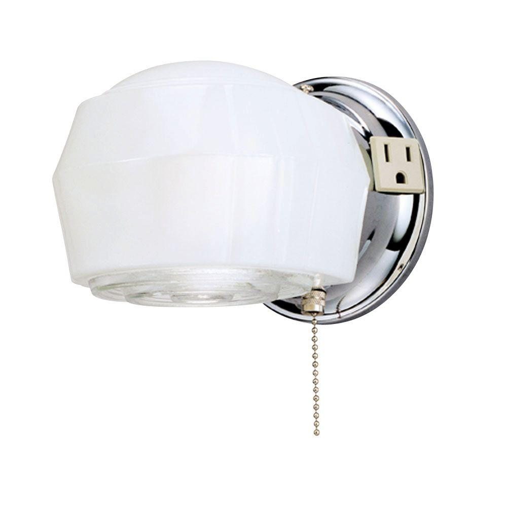 Chrome Internal Wall Lights : Westinghouse 1-Light Chrome Interior Wall Fixture-6640200 - The Home Depot