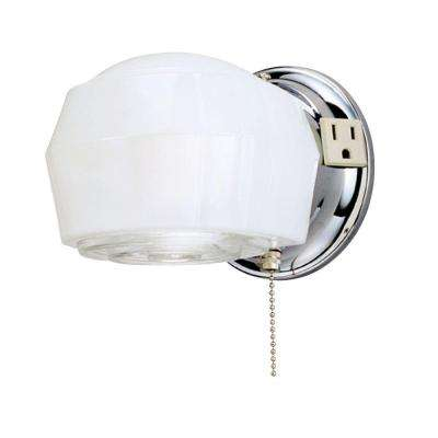1-Light Chrome Interior Wall Fixture