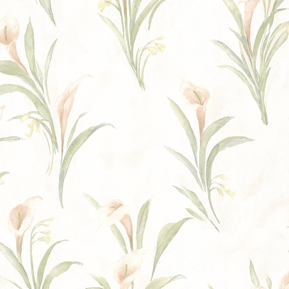 Brewster 56.4 sq. ft. Ezra Silver Satin Marble Wallpaper 436-66605