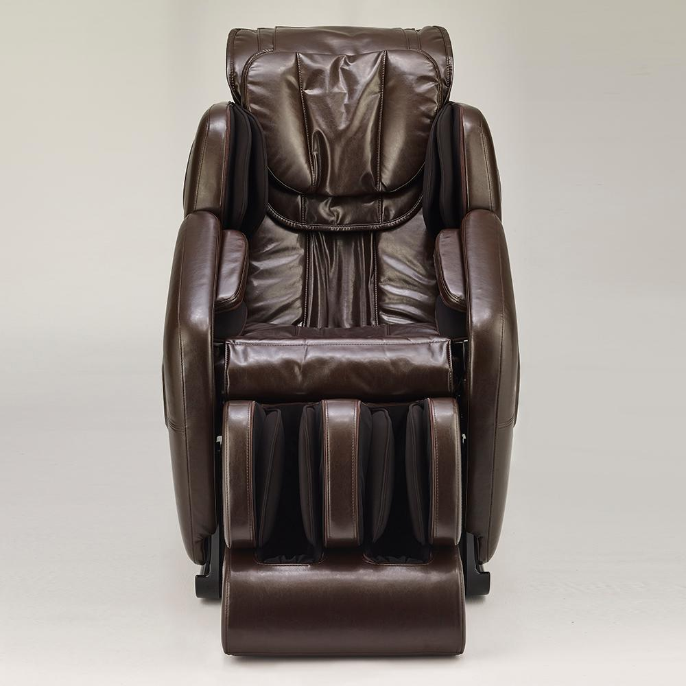 Captivating Inner Balance Wellness Jin Espresso Antiqued Gloss Synthetic Leather SL  Track Deluxe Zero Gravity Massage Chair
