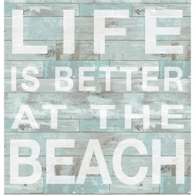 17.25 in. x 19.5 in. Better at the Beach Wall Decal