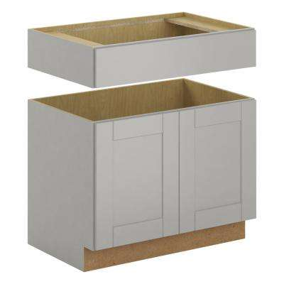Princeton Shaker Assembled 36x34.5x24 in. Accessible Sink Base Cabinet in Warm Gray