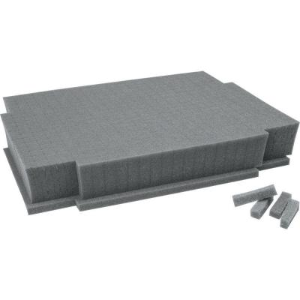 15.125 in. Customizable Foam Insert for Interlocking Cases, Gray