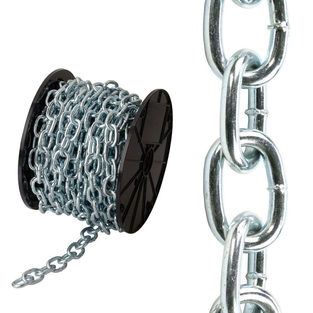 x p coated plated chain bolt the crown link chains ft passing zinc