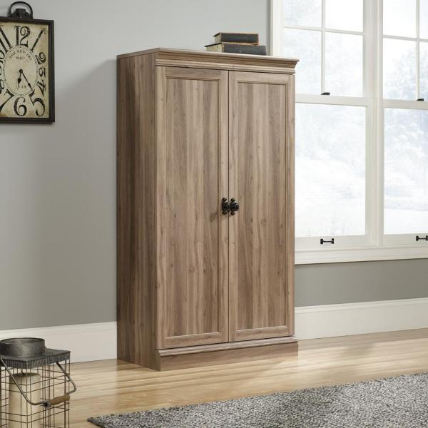SAUDER Barrister Lane Salt Oak Storage Cabinet with Frame Panel Doors