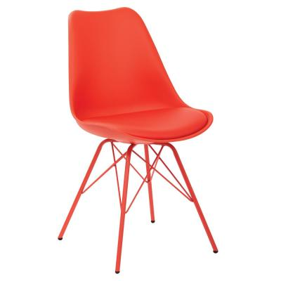 Emerson Red Side Chair with 4-Leg Base (2 per Pack)