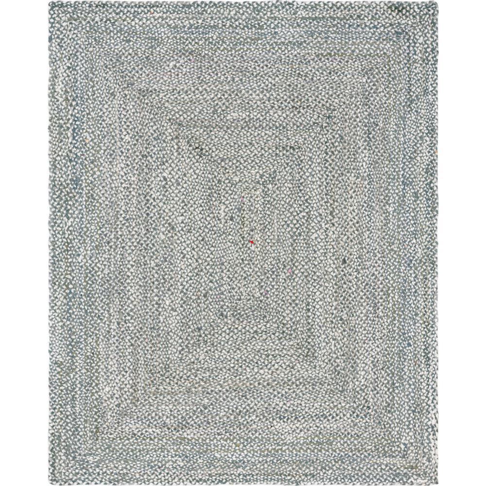 Unique Loom Braided Chindi Gray 8 ft. x