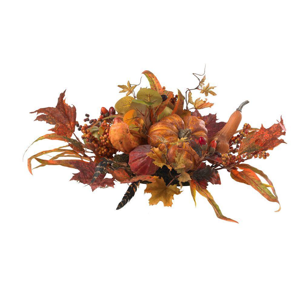 26 in. Harvest Artificial Foliage Centerpiece