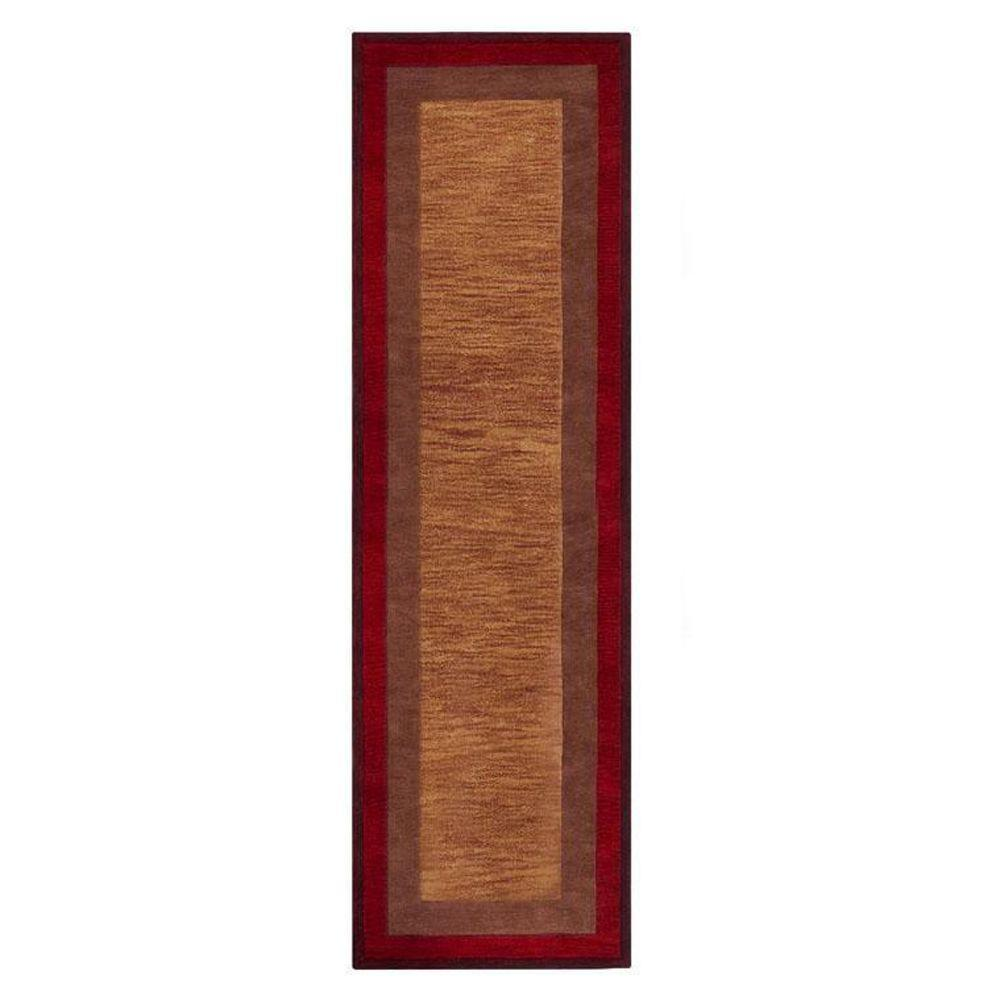 Home Decorators Collection Karolus Rust 2 ft. 6 in. x 10 ft. Runner