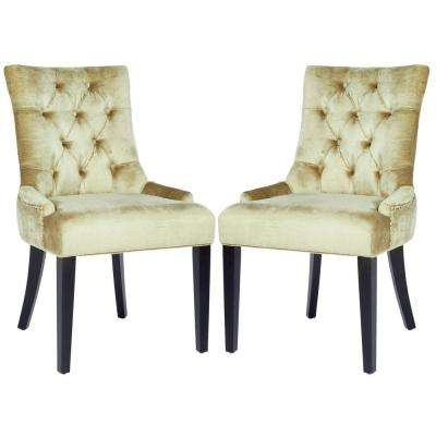 Abby Antique Sage/Espresso Cotton Blend Side Chair (Set of 2)
