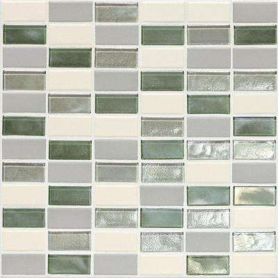 Coastal Keystones Caribbean Palm 12 in. x 12 in. x 6 mm Glass Mosaic Floor and Wall Tile