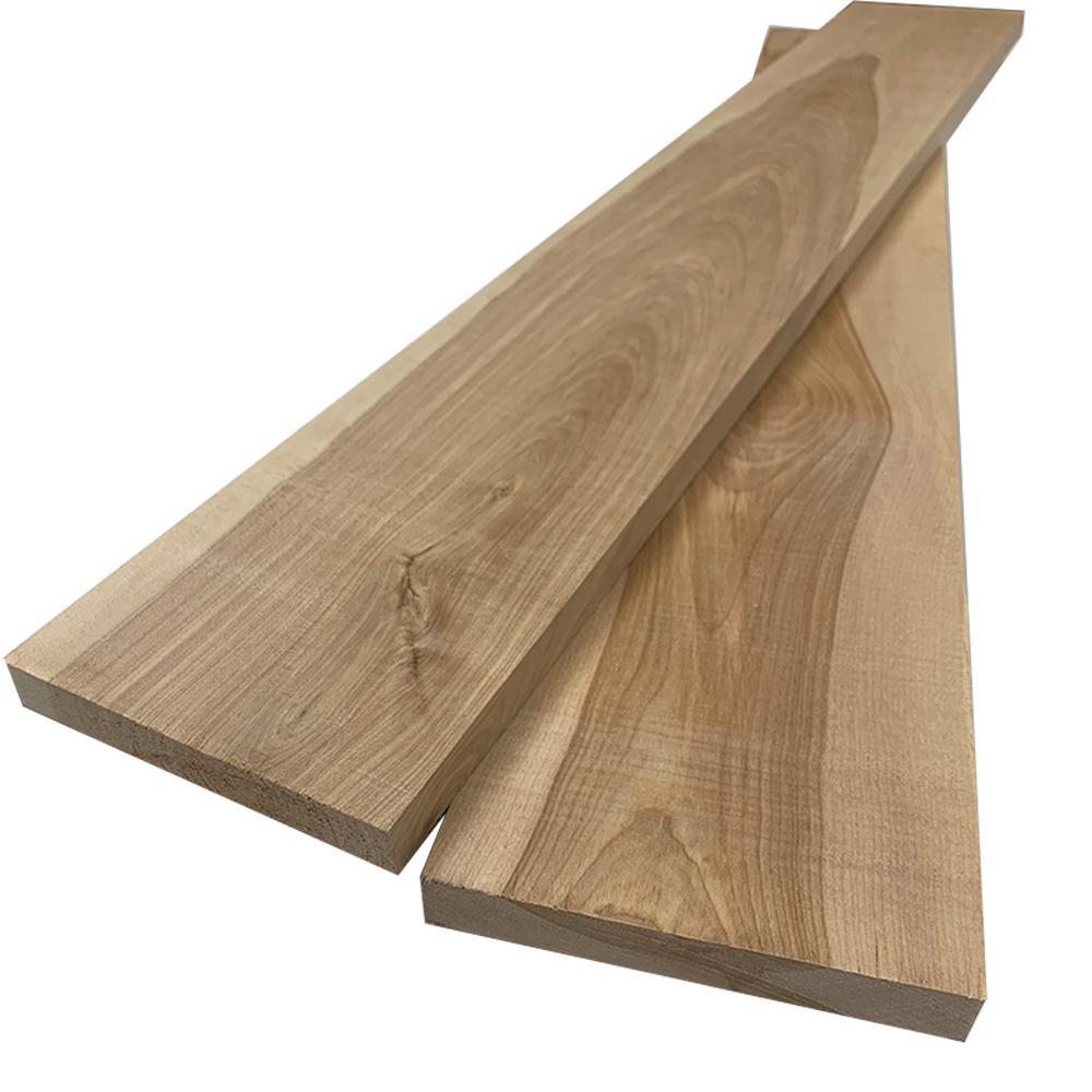 1 in. x 6 in. x 8 ft. Birch S4S Board (2-Pack)