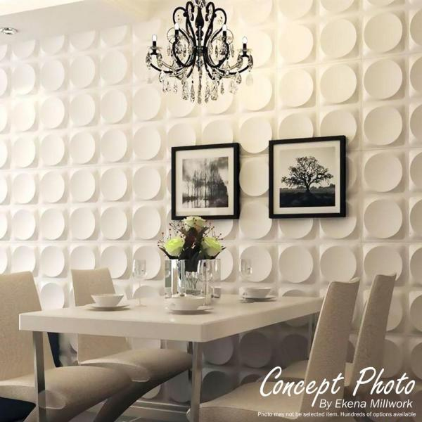 White Ekena Millwork WP20X20BRWH-CASE-10 Bradford EnduraWall Decorative 3D Wall Panel 19 5//8W x 19 5//8H 10 Each