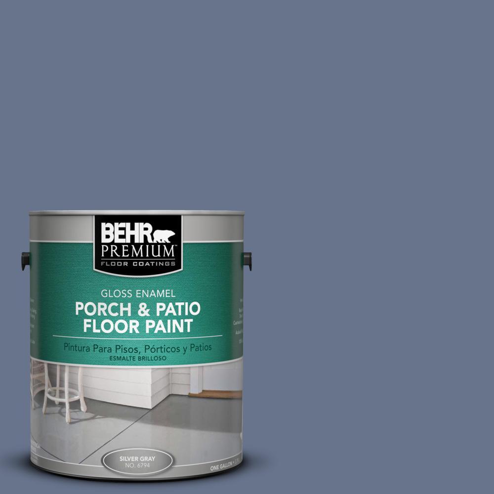 1 gal. #PPU16-17 Blue Aura Gloss Interior/Exterior Porch and Patio Floor Paint