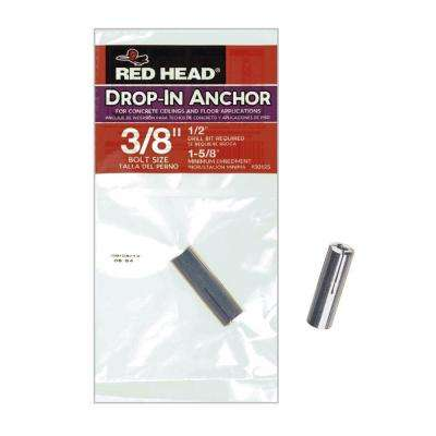 3/8 in. x 1-5/8 in. Zinc-Plated Steel Drop in Anchor