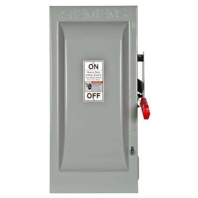 Heavy Duty 100 Amp 600-Volt 3-Pole Indoor Fusible Safety Switch with Neutral