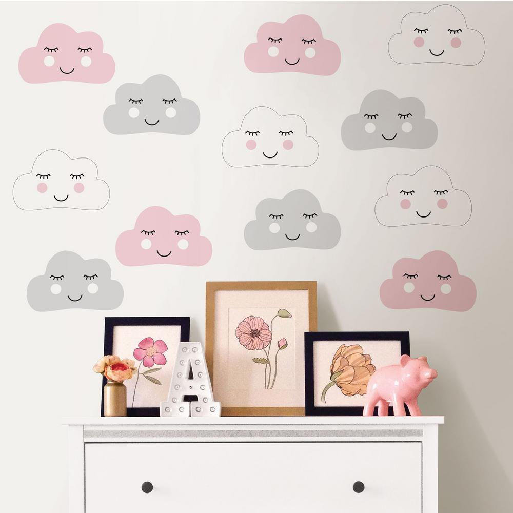 WallPops Pink Head in The Clouds Wall Decal  sc 1 st  Home Depot & WallPops Pink Head in The Clouds Wall Decal-DWPK2707 - The Home Depot