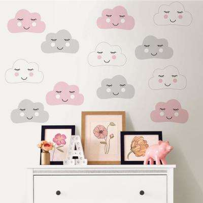 Pink Head in The Clouds Wall Decal