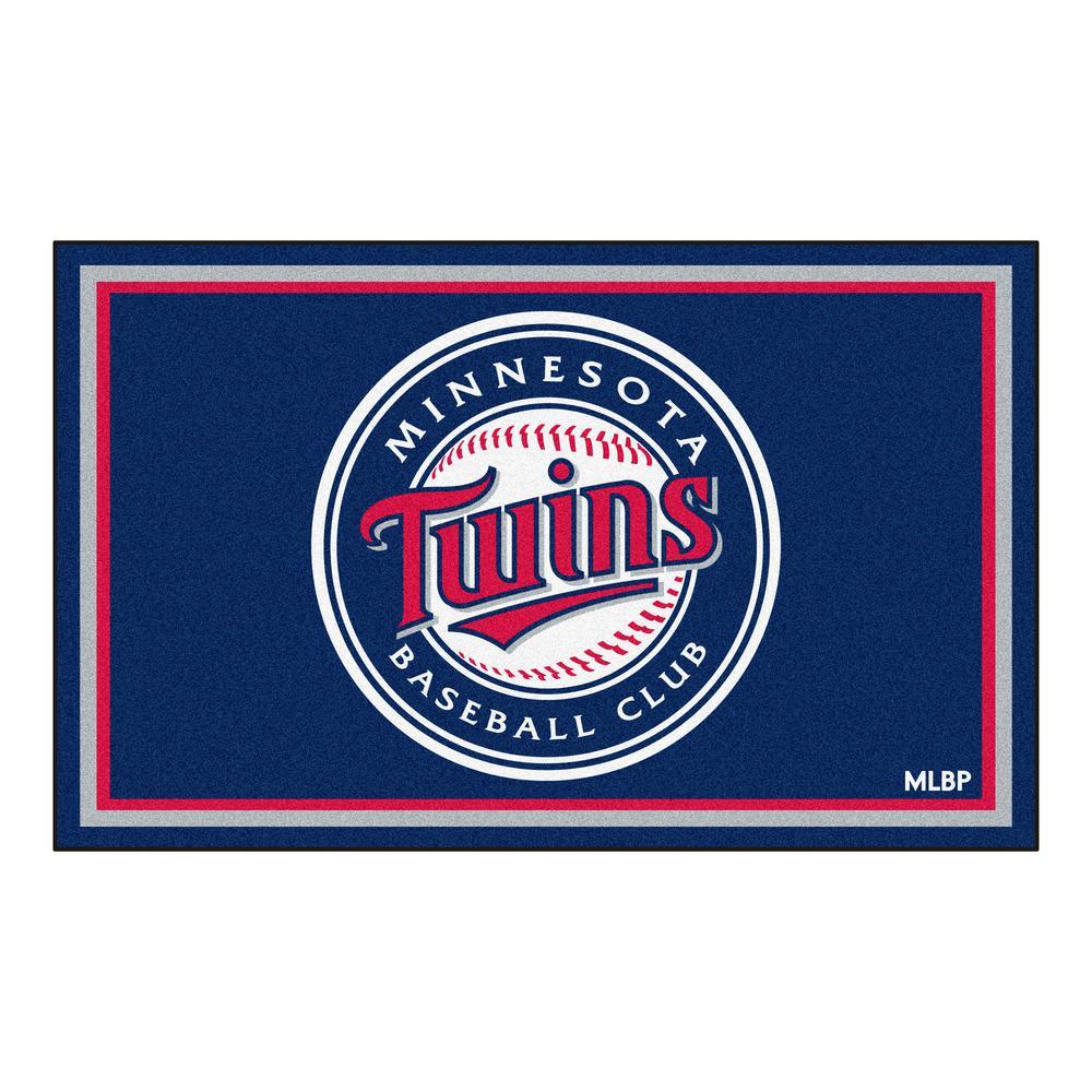 Fanmats Minnesota Twins 4 Ft X 6 Ft Area Rug 7069 The
