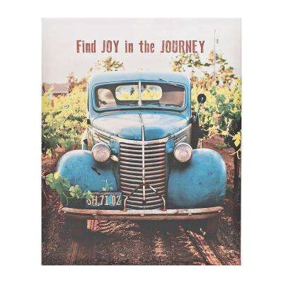 "Simply Inspired ""Joy in the Journey""  by Carpentree Printed Canvas Wall Art"