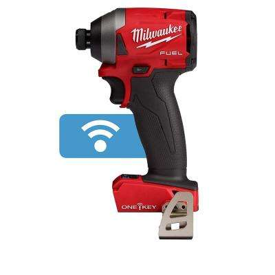 M18 FUEL ONE-KEY 18-Volt Lithium-Ion Brushless Cordless 1/4 in. Hex Impact Driver (Tool-Only)