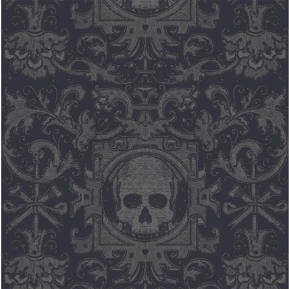 Skull Box Fabric Peelable Wallpaper (Covers 36 sq. ft.)