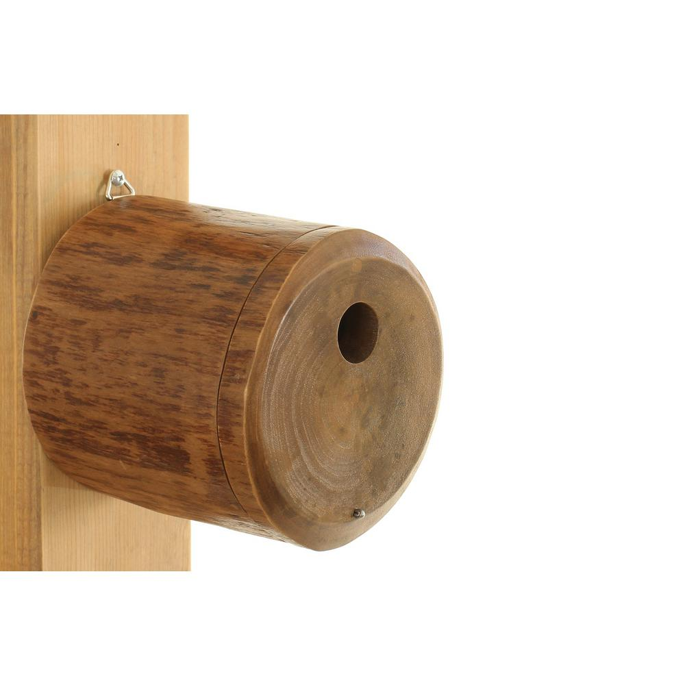 byer of maine 6 in mango wood pivot bird house mtcd131 the home depot. Black Bedroom Furniture Sets. Home Design Ideas