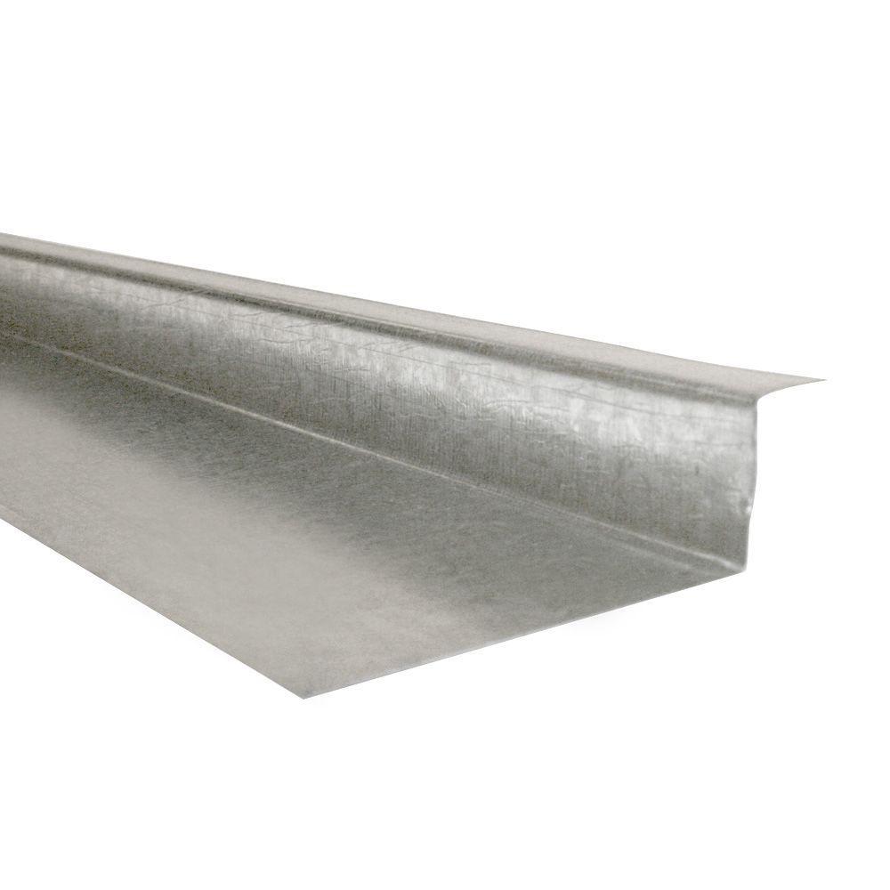 1/4 in  x 1-1/4 in  x 1-1/2 in  Drip Edge Galvanized Steel 30-Gauge